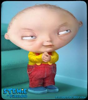 ilustraciones muy reales y  caricaturas- Stewie