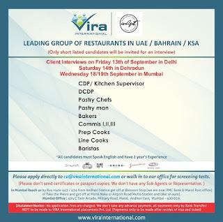 Restaurants in UAE Bahrain KSA