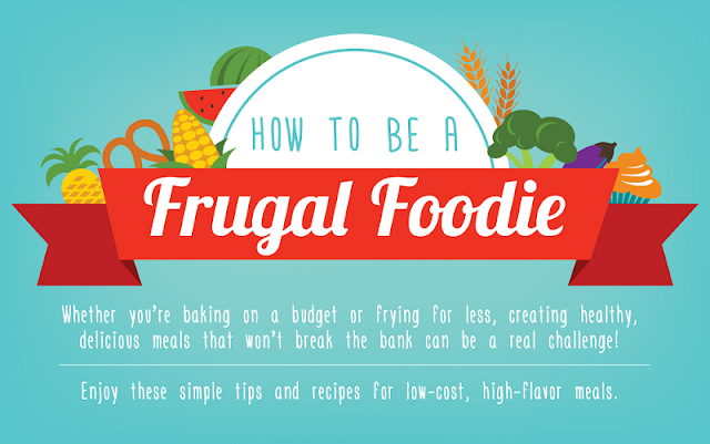 How To Be A Frugal Foodie #Infographic