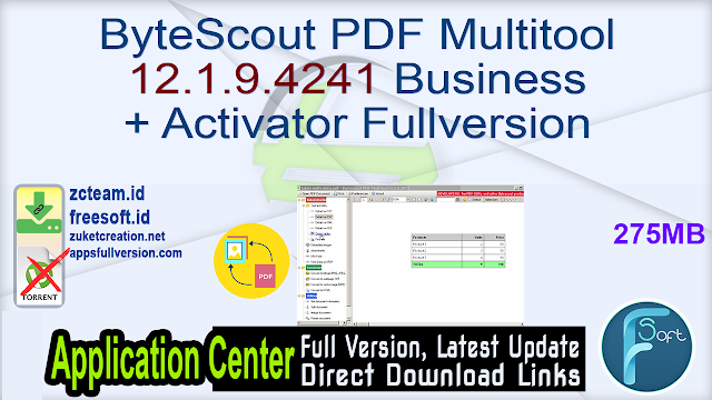 ByteScout PDF Multitool 12.1.9.4241 Business + Activator Fullversion