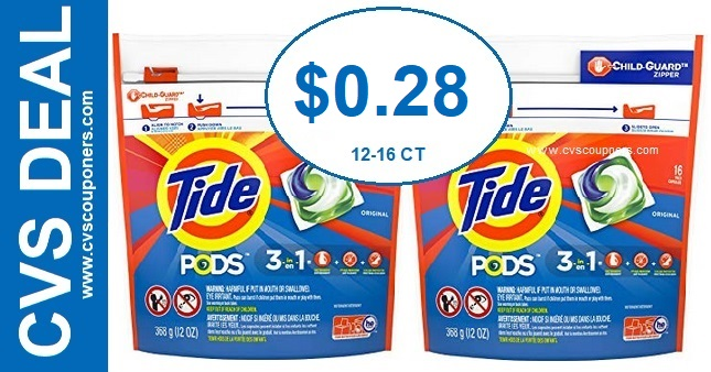 Tide Pods CVS Coupon Deal $0.28 714-720