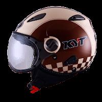 Helm KYT Elsico Seri 2 Cream Brown