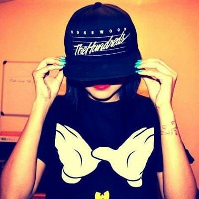 Girl Half Face Stylish DP