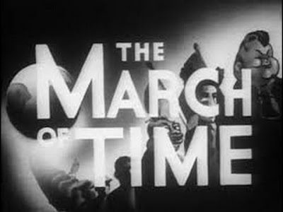 Titles from The March of Time newsreel, circa 1940s (?)
