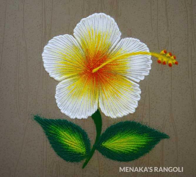 single flower rangoli design