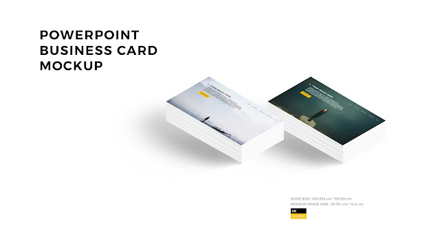 Free PowerPoint Layout Mockup with Business card Style 2