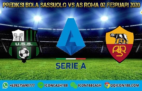 Prediksi Skor Sassuolo vs AS Roma 02 Februari 2020