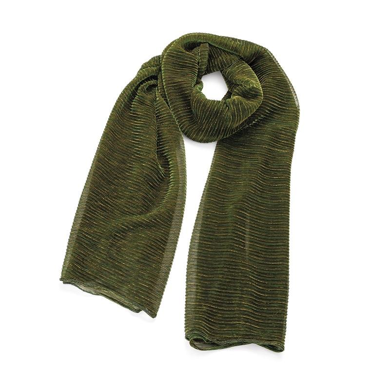 Beautiful Metallic Green Colour Scarf