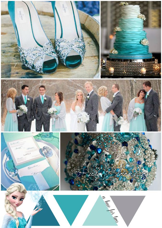 Tiffany Blue Themed Wedding Gallery Decoration Ideas