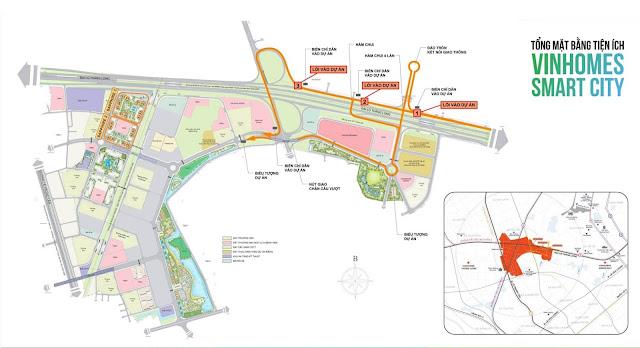 Quy hoạch tổng thể của dự án Vinhomes Smart City