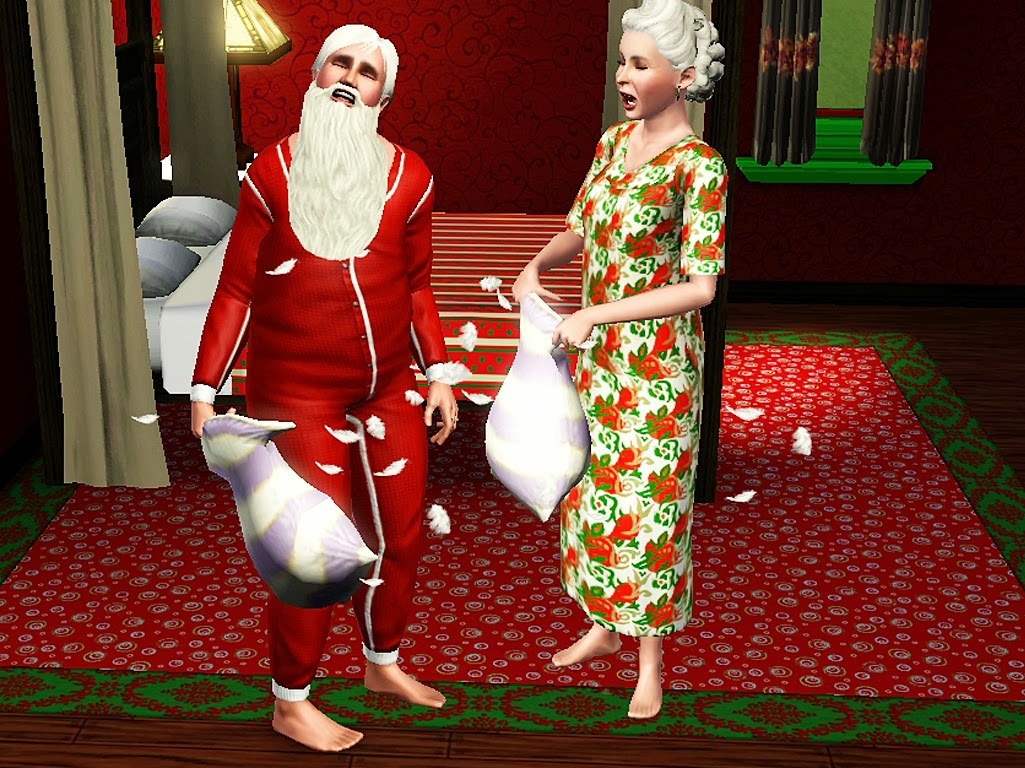 Sims and Just Stuff Santa  Mrs Claus by prettysimsmaker
