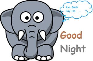 good night cute baby elephant