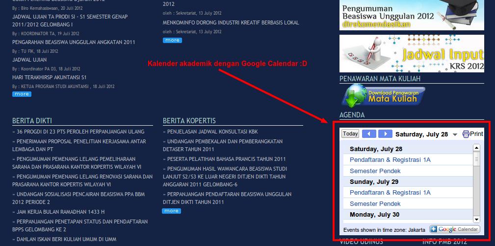 Integrasi Google Calendar dengan Gnome Shell