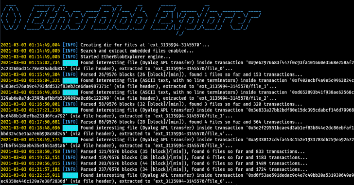 Etherblob Explorer : Search And Extract Blob Files On The Ethereum Blockchain Network