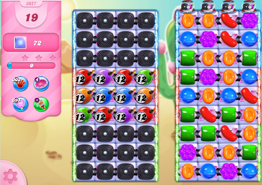 Candy Crush Saga level 3027
