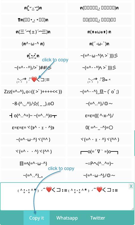 How to Copy Cat Kaomoji