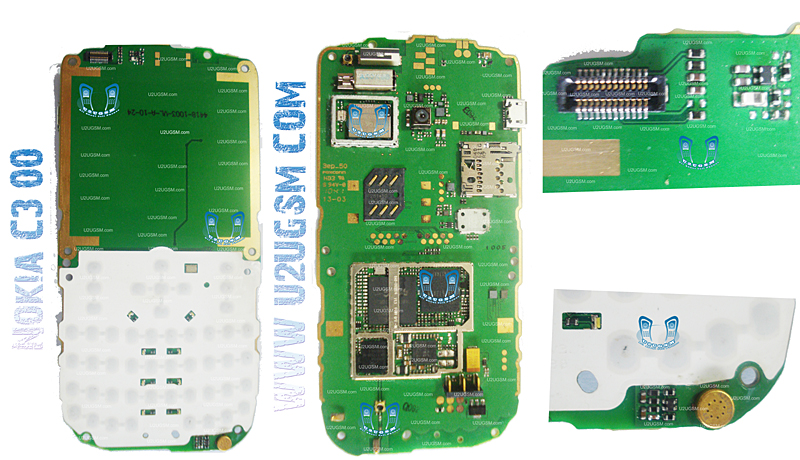 Cell Firmware: Nokia C300 Full PCB Diagram Mother Board Layout