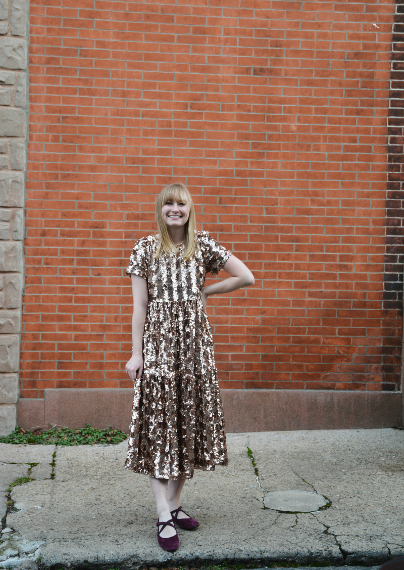 Ringing in the New Year in a Sparkly Dress | Organized Mess