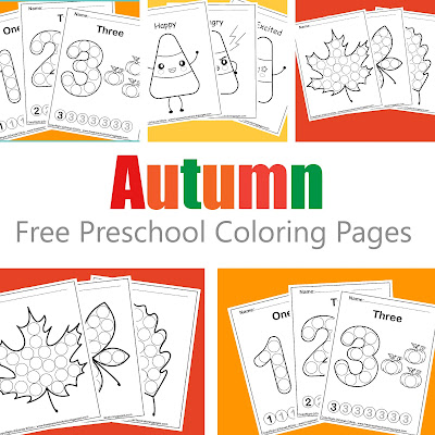Fall autumn free preschool coloring pages perfect for fall season