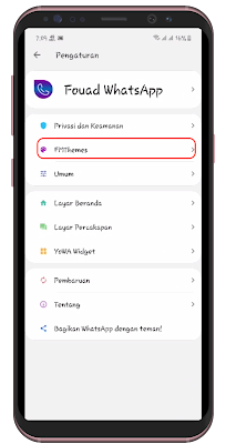 Download Fouad Whatsapp MOD Tema ios Terbaru 2021
