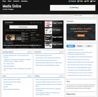 download template blog berita, template sport, template berita online