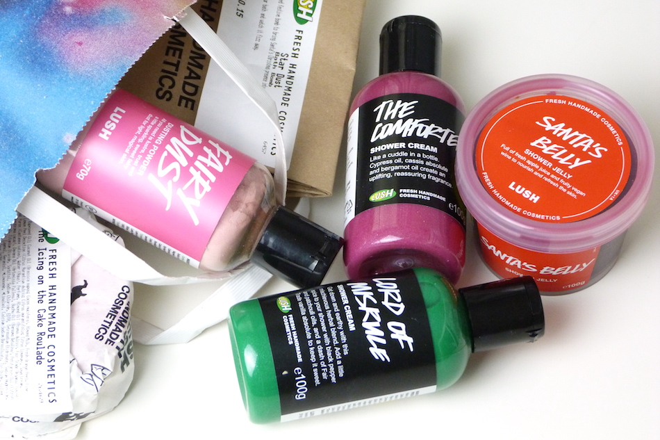 an image of a Lush Christmas Haul 2015