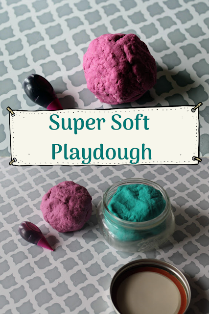 Super Soft play doh made with hair gel