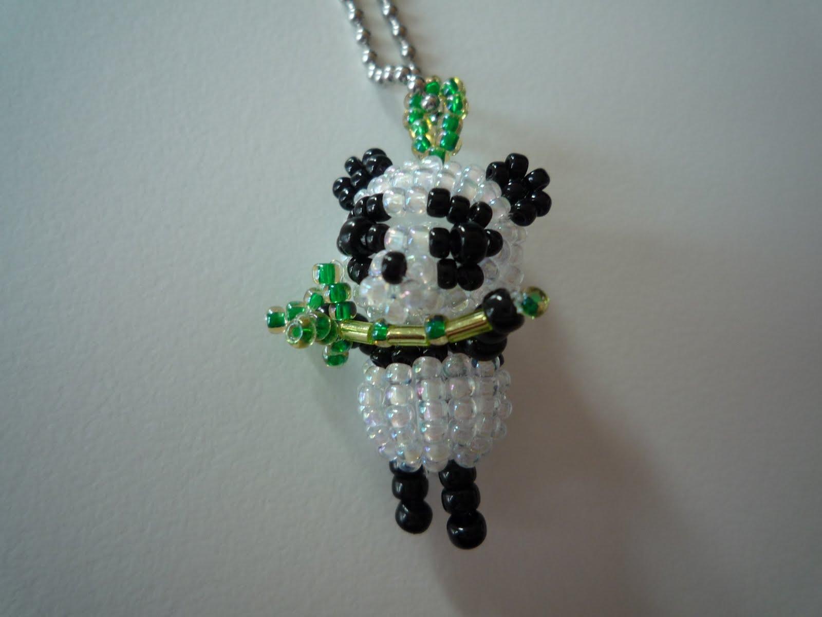 perle de rocaille panda
