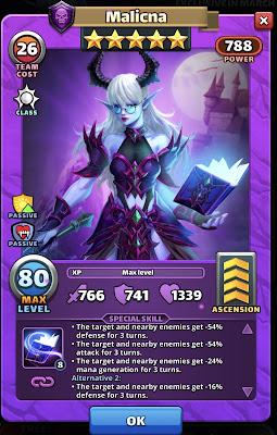Malicna Hero Card March 2021 HotM - Empires & Puzzles