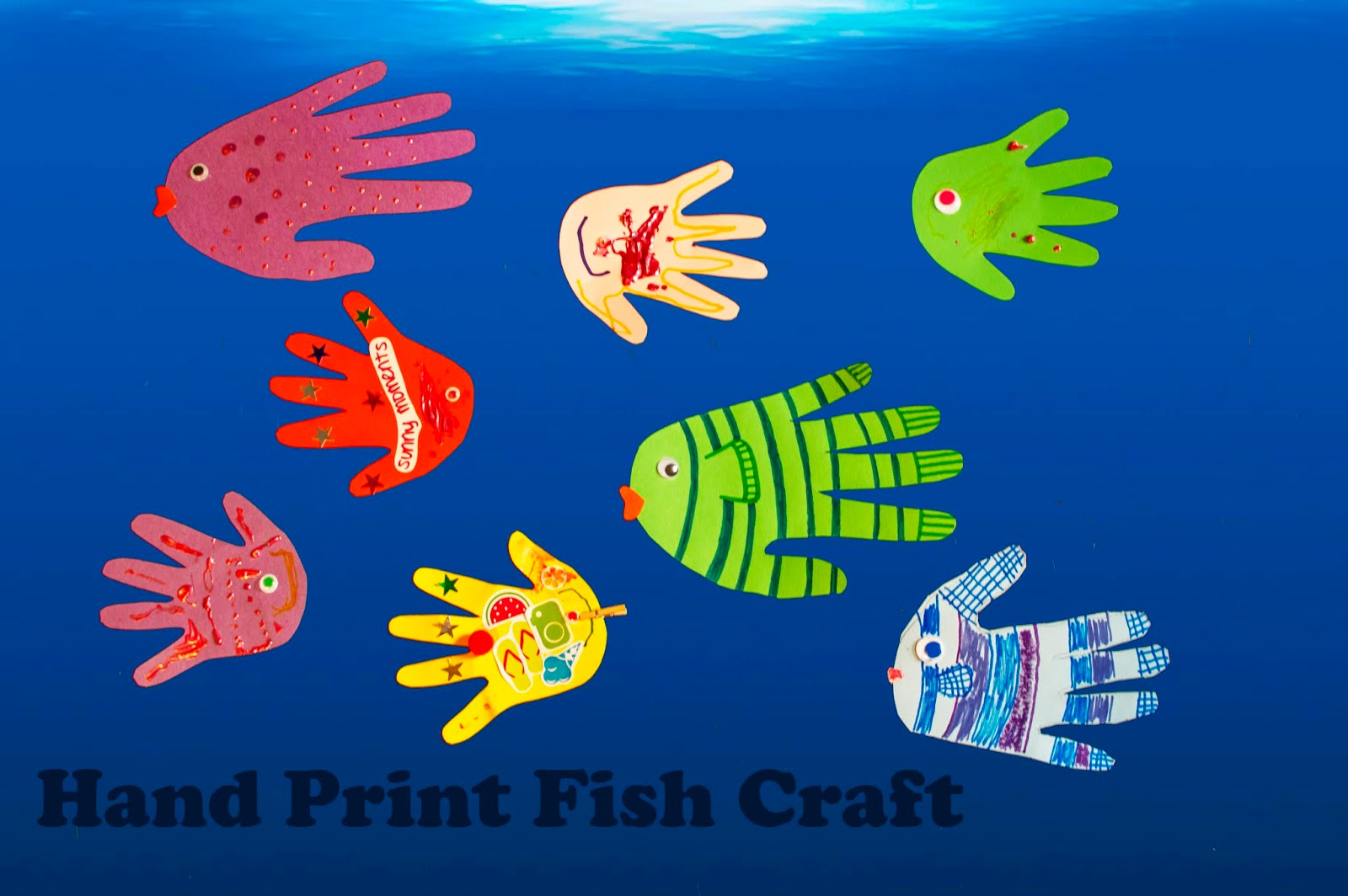 What I Live For: Hand Print Fish Craft