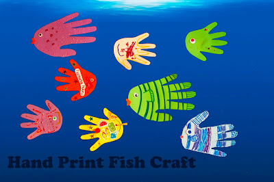 Hand Print Fish Craft