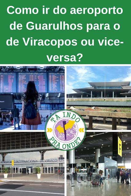 Como ir de Guarulhos para Viracopos ou de Viracopos para Guarulhos?