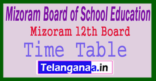 Mizoram HSSLC Time Table