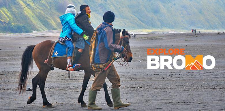 anak-anak dan sewa kuda bromo