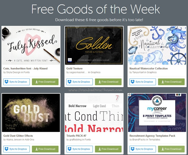 freebies of the week download now