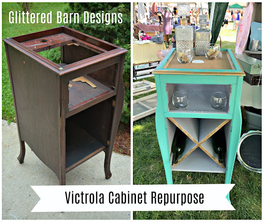 Trash to Treasure: Victrola Cabinet Repurpose