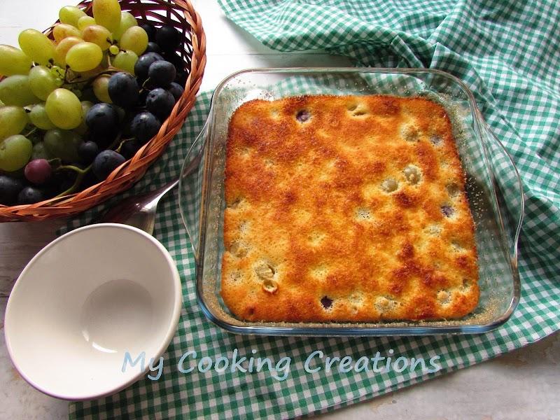 Клафути с грозде и кокосово брашно * Clafoutis all'uva e farina di cocco