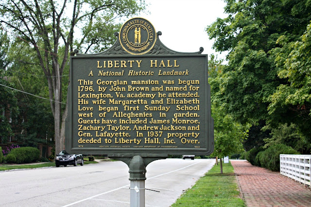 Liberty Hall in Frankfort, KY is a national landmark.