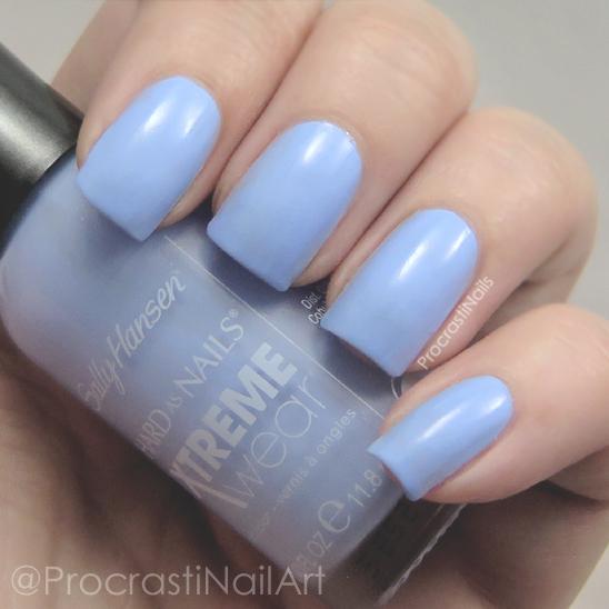 Light blue nail polish representing Pantone's 2016 Color of the Year Serenity