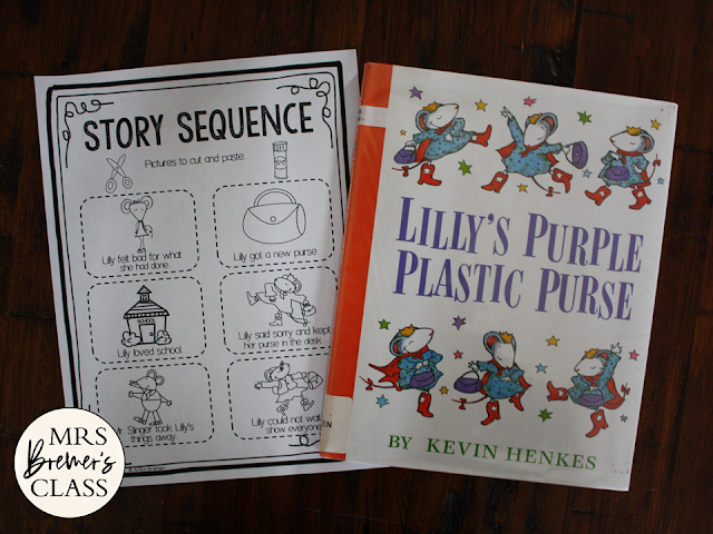 Lillys Purple Plastic Purse book study literacy unit with Common Core aligned companion activities K-1
