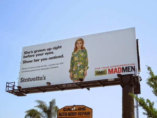 Sally Mad Men Statuettes Emmy 2014 consideration billboard