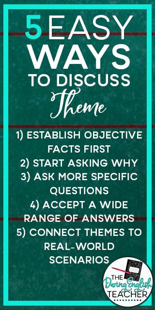5 Easy Ways to Discuss Theme