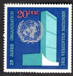 Germany DDR 1970 UN Headquarters And Emblem