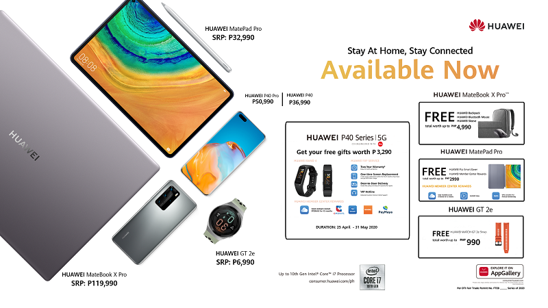 Huawei bundles the P40 5G Series, MatePad Pro, MateBook X Pro and Watch GT2e with awesome freebies