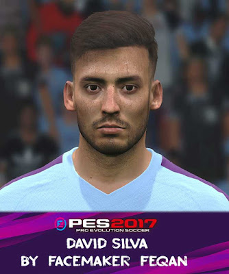 PES17 David Silva Face by Feqan