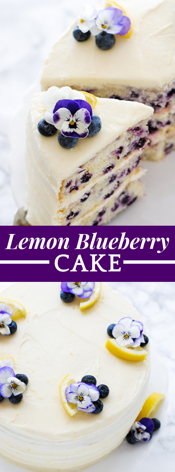 LEMON BLUEBERRY CAKE #dessert #partycake