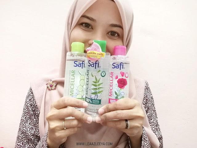 Cuci Makeup Lebih Mudah Dengan Safi Micellar Natural Cleansing Water