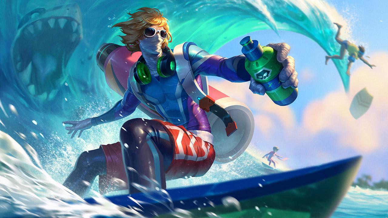 Surfer Singed