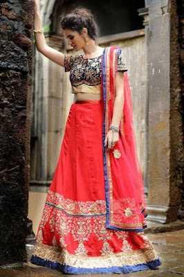 Designer-indian-lehenga-choli-dresses-designs-2017-for-women-2