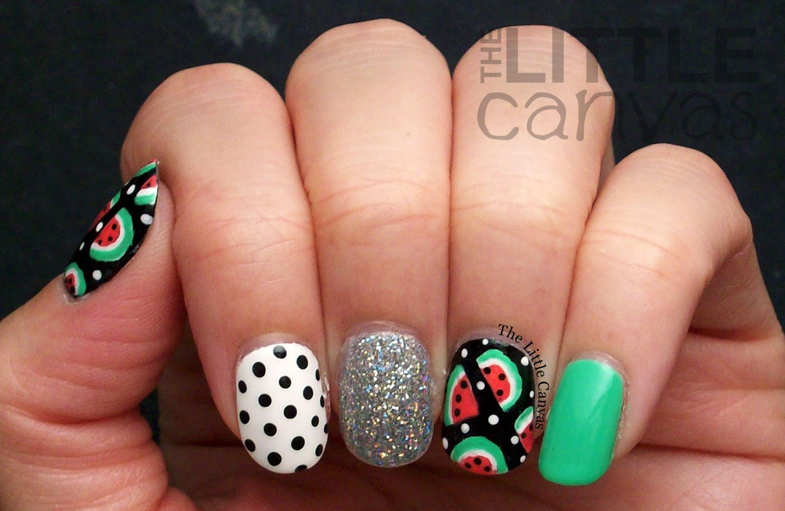 The One With The Watermelon Manicure For A Picnic The Little Canvas